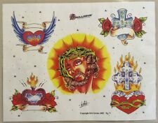 "Tattoo Studio Shop Flash Single By Eric Iovino Christianity Jesus 11""X14"" Print"