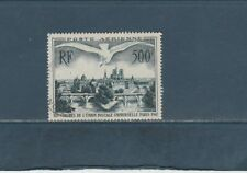 timbre France  poste aérienne oiseau survolant Paris UPU 1947 num: 20 oblitéré