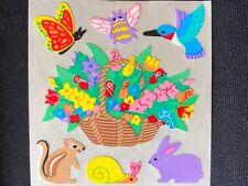 1 VINTAGE 80'S HUMMINGBIRD BIRD SQUIRREL & FLOWERS  SANDYLION STICKER