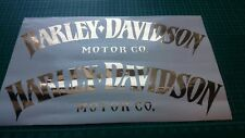 Harley Davidson Tank Aufkleber Gold Hochglanz