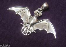 FLYING BAT & PENTAGRAM pendant  S/SILVER * VAMPIRES * by MAXINE MILLER