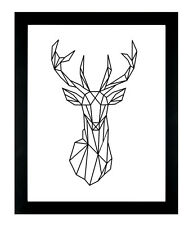 Stag Elk Deer Print Fashion Poster Home Interior Wall Picture Decoration A4
