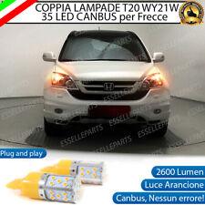 COPPIA LAMPADE T20 WY21W CANBUS 35 LED FRECCE ANTERIORI HONDA CR-V MK3 NO ERROR
