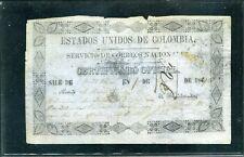 TELEGRAFOS,'SERVICIO DE CORREOS NAL.'' SALE QUIBDO A CALI  7 DE ENERO 1867