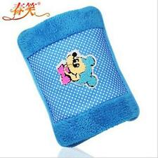Blue Electric Allover Body Hand Warmer Hot Water Bottle Flannel Warming Bag
