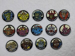Tazos Pogs Monster in my Pocket Ninja Warriors 1-14