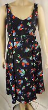 City Chic Black Floral Sweet Tea Length Party Dress Plus Size XS 14 P42