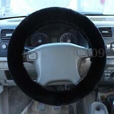 Universal Black Warm Soft Fuzzy Plush Car Auto Steering Wheel Cover For Winter