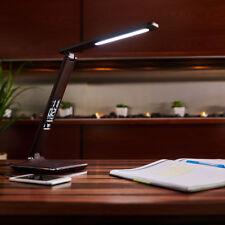 OttLite Lightning Wellness Renew LED Desk Lamp Brown