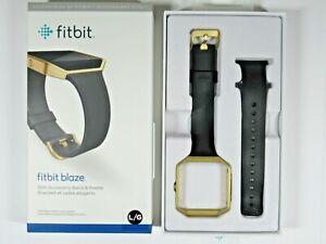 Fitbit Blaze Slim Accessory Band & Frame, Black w/Gold Frame, Lg, WAS $79.95