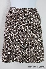 Merona Pencil Skirt Leopard Animal Print Stretch Cotton Above Knee Womens Size 6