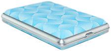 Blauer Wirbel Zigarettenetui EDEL Zigarettenbox Etui für ca. 12 Zigaretten NEU