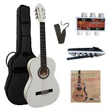 4/4 Gitarre, Konzertgitarre classic weiß C26 im Set, Tasche, Band, Zubehör, ö