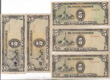 Rare Old WWII Japan War Occupation Dollar Bill Art Note Vinatge Collection Lot