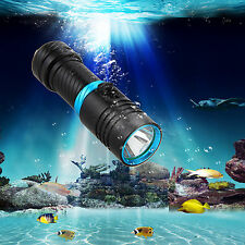 Underwater 100m 5000Lm Cree Xm-L2 Led Scuba Diving Flashlight Torch Headlight