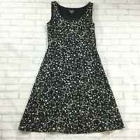 Ann Taylor Womens Dress size 6 Black White Lined Fit Flare Dinner Party Career