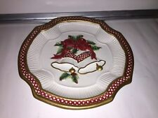 Fitz & Floyd Holiday Bells Canape Plate
