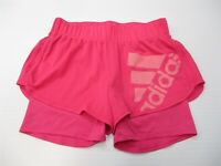 ADIDAS Women's Size S CLIMALITE Training Pink Logo Lined Running Shorts