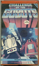 CHALLENGE OF THE GOBOTS VOLUME IV (4); VHS 1986 Renegade Rampage