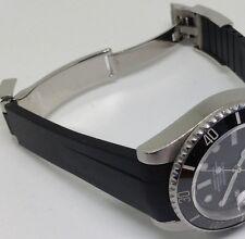 Original Kautschuk Armband für Rolex 20 mm Submariner, Daytona, GMT II, Schwarz