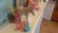 Vintage 80s My little pony Sundance with bridle and brush