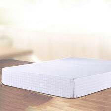 Satin Gingham Cotton Bedspread Antiskid Mattress Pad Protector Cover Bed Bedroom