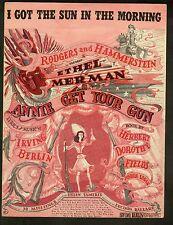 I Got The Sun In The Morning 1946 Annie Get Your Gun Sheet Music