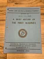 A Brief History of the First Marines  Marine Corps Historical Reference Pamphlet