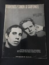 SIMON AND GARFUNKEL  Bookends  sheet music songbook from 1968.