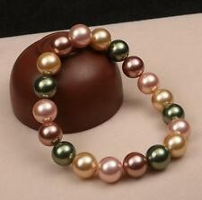 5Colors 10mm South Sea Shell Pearl Bracelet high grade gifts jewelry 7.5inch