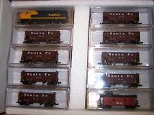 N SCALE SANTA FE COAL TRAIN SET WITH F-7 LOCO AND 8 HOPPER CARS # NND-015