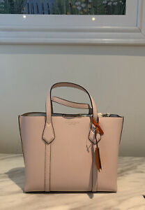Tory Burch Perry cross body bag Small Triple Compartment Tote light pink