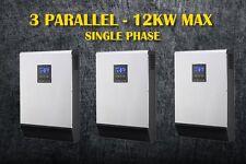 12kw solar inverter 48vdc 230vac  ,80A mppt solar charger *3  ( PIP4048MS*3)