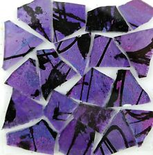 PURPLE Mosaic Glass Tile: 100 pieces of PURPLE DRAGONFLY by Makena Tile