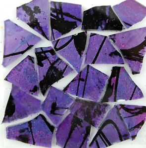 100 PURPLE DRAGONFLY  Colored glass pieces by Makena Tile