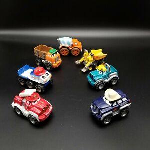 Lot Of 7 Tonka Lil Chuck & Friends Diecast Toy Trucks Maisto Hasbro 2000