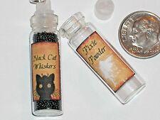 1 Pendentif en Verre Vide Bouteille Sorcière Potion Poison Étiquettes Collier