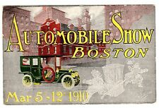 POSTCARD U.S. 1910 BOSTON AUTOMOBILE SHOW