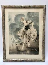 LOUIS ICART GRAVURE EAU FORTE LE GUE 1926 ART NOUVEAU SIGNEE NUMEROTEE  G617