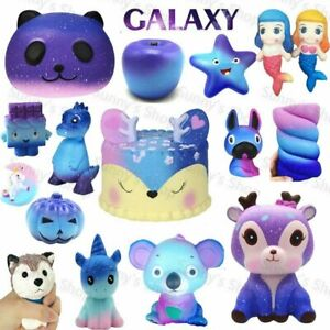 Kawaii Jumbo Slow Rising Galaxy Squishys Squeeze Toys Stress Reliever Kid Gifts