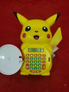 Official Nintendo 1999 Pokemon Pikachu Talking Calculator/Alarm Clock RARE (j2)