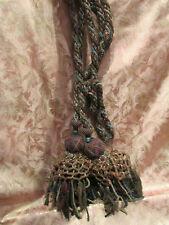 ancienne paire embrasses de rideaux pompons passementerie napoleon III 19 eme 11