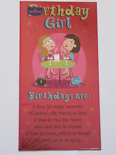 COLOURFUL FUNNY POEM A PROPER GROOVY CHICK BIRTHDAY GIRL BIRTHDAY GREETING CARD