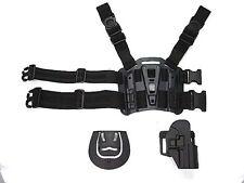 USP Compact RH Pistol Holster Paddle & Belt Drop Leg Holster Black