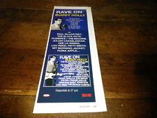 BUDDY HOLLY - Petite publicité de magazine / Advert !!! RAVE ON !!!