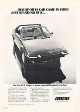 1975 Fiat X1/9 - Standing - Classic Vintage Advertisement Ad D127