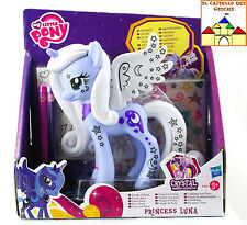 MY LITTLE PONY Disegna il Tuo Pony PRINCESS LUNA Nuovo by Hasbro