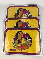 Vintage Pocahontas Placemat Lot of 3 Disney Princess Dining Plastic Tabletop New