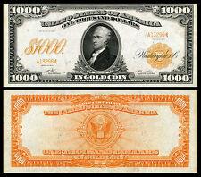 NICE  CRISP UNC.1907 $1,.000 GOLD CERTIFICATE COPY READ DESCRIPTION