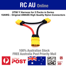 XT90 Y Harness for 2 Packs in Series - 10awg - Original High Quality Nylon